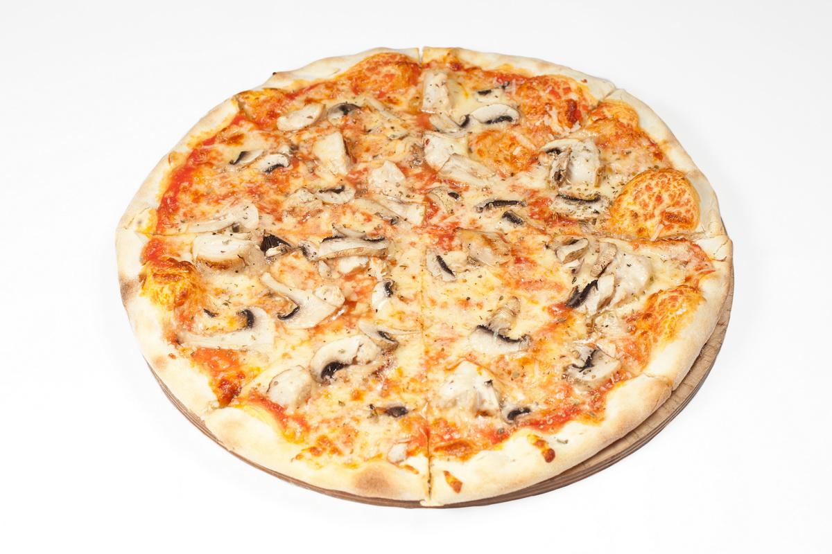 Как сделать пиццу из основы для пиццы с грибами